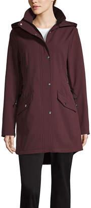 Liz Claiborne Hooded Water Resistant Lightweight Softshell Jacket