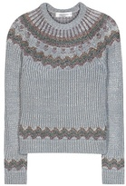 Valentino Metallic Wool-blend Sweater