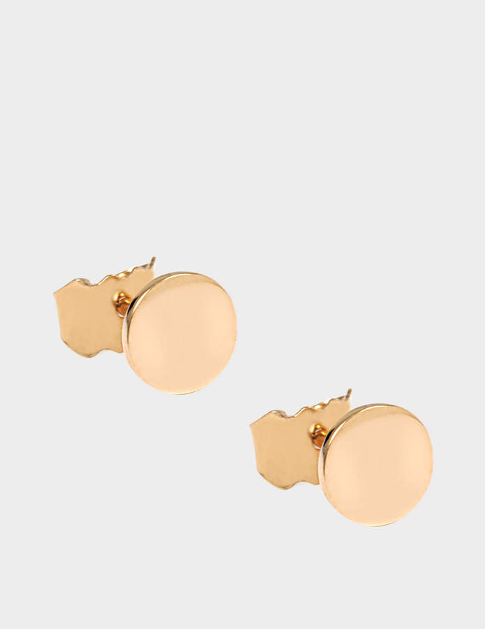 ginette_ny Mini Ever Disc 18-karat rose gold studs