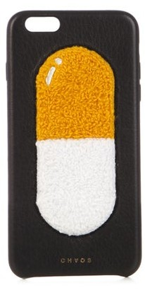 Chaos Pill Leather Iphone 6 Plus Case - Womens - Black Multi