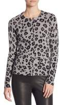 Saks Fifth Avenue COLLECTION Cashmere Printed Button Front Cardigan