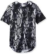 Akademiks Men's Snake Long Length T-Shirt