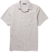 Alex Mill Camp-Collar Checked Cotton-Seersucker Shirt