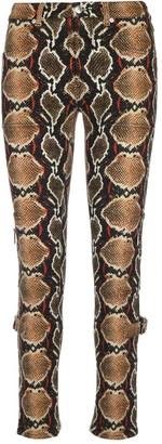Burberry Animal Print Skinny Jeans