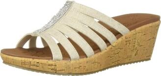 Skechers Women's Beverlee - Multi-Strap Rhinestone Sandal Wedge