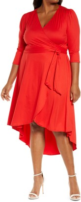 Kiyonna Winona High/Low Wrap Dress