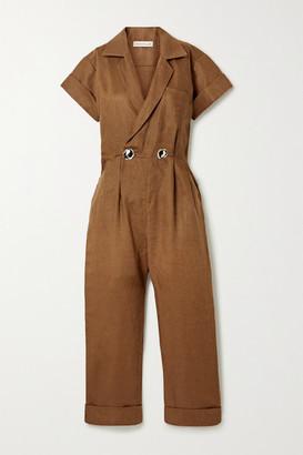 Nicholas Rumi Linen Jumpsuit - Brown