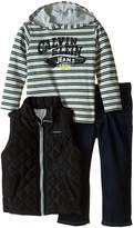 Calvin Klein Little Boys' Puffy Vest with Tee and Pants Toddler