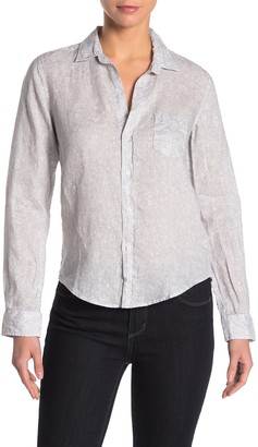 Frank And Eileen Barry Linen Tailored Classic Long Sleeve Button Front Shirt