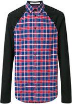 Givenchy plaid colour-block shirt