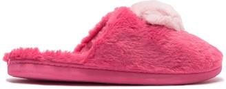 Kensie Heather Knit Faux Fur Slipper