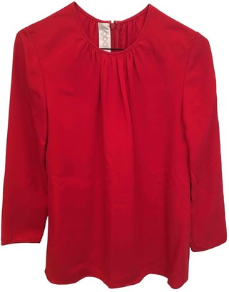 Goat Red Silk Top for Women