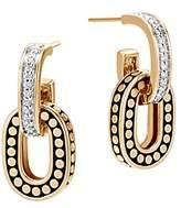 John Hardy 18K Yellow Gold Dot Diamond Small Drop Earrings