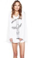 Lauren Moshi Sola Wide Sleeve Top in White