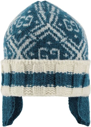 Gucci Kids Monogram Detail Knitted Hat