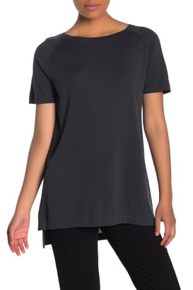 Eileen Fisher Boat Neck Tunic Top (Petite)