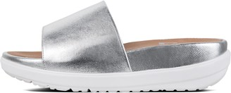 FitFlop Loosh Luxe Metallic Leather Slides