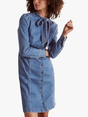 Boden Elspeth Denim Shirt Dress, Mid Vintage Blue