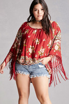 Forever 21 FOREVER 21+ Tassels N Lace Floral Top