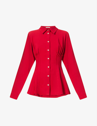 Maggie Marilyn Pin-tucked recycled-polyester shirt