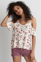 American Eagle Outfitters AE Soft & Sexy Cold Shoulder Top
