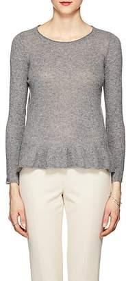 Barneys New York Women's Cashmere Peplum Sweater - Gray