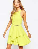 Adelyn Rae Layered Skater Dress