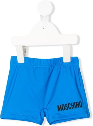 MOSCHINO BAMBINO Logo Print Swim Shorts