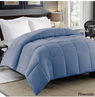 Blue Ridge Home Fashions Hotel Grand 300 Thread-Count Sateen Cotton Down Alternative Comforter - Twin - Blue/Riverside