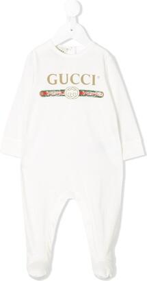 Gucci Kids logo pajamas