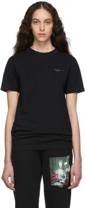 Off-White Off White Black and Silver Unfinished Slim T-Shirt
