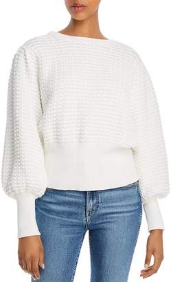 French Connection Mozart Popcorn-Knit Cotton Sweater