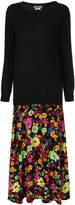Moschino double layered sweater dress