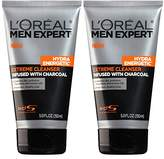 L'Oreal Skin Care Men's Expert Hydra Energetic Charcoal Cream Cleanser, 2 Count