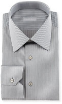 Stefano Ricci Fancy-Striped Dress Shirt, Black