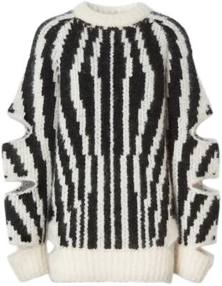 Burberry Zebra Print Cut-out Sweater