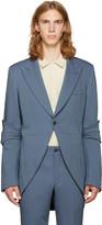 Comme des Garcons Blue Tailcoat Blazer