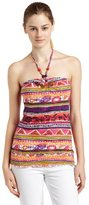 Southpole Junior's Allover Colorful Printed Halter Top