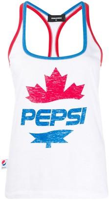 DSQUARED2 #D2XPepsi logo print tank top