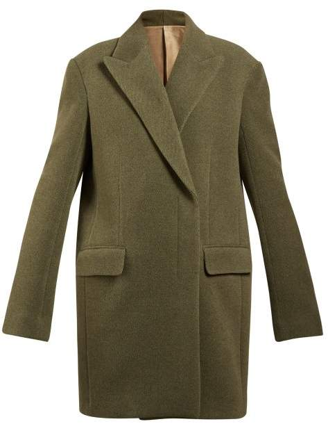 The Row Mewey Oversized Wool Blend Coat - Womens - Green