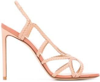 Francesco Russo braided 110mm open-toe sandals
