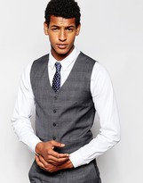 French Connection Self Check Waistcoat - Grey