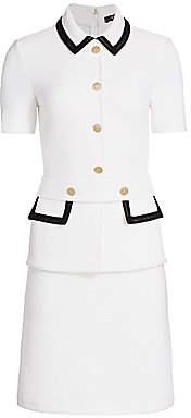 St. John Women's Lux Bouclé Knit Short-Sleeve Dress
