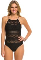 Kenneth Cole Reaction Suns Out Buns Out High Neck One Piece Swimsuit 8139370