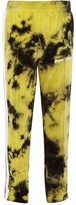 Palm Angels Tie-dyed Cotton-blend Chenille Track Pants - Mens - Black Yellow