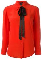 Marc Jacobs crêpe de chine bow shirt