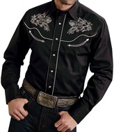 Roper Steer Head Shirt - Cotton, Snap Front, Long Sleeve (For Men)