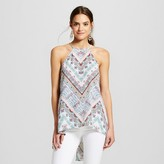 Women's Printed High Neck Flyaway Tank Top - 3Hearts (Juniors')