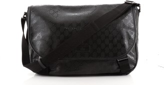 Gucci Double Buckle Messenger GG Coated Canvas Large