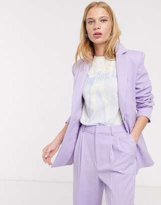 And other stories & single breasted blazer in lilac